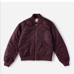 Everlane limited edition wine bomber jacket M